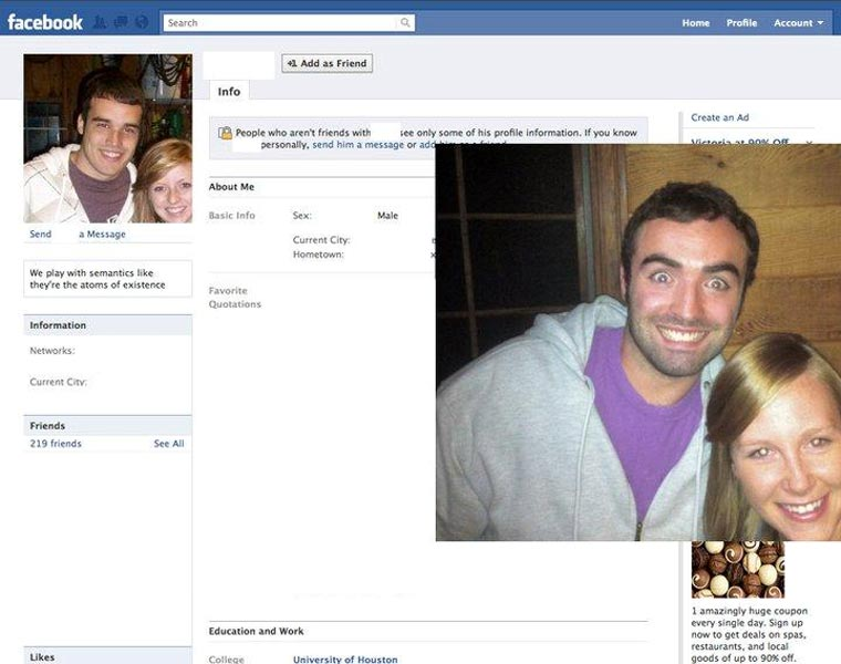 Typ stellt Facebook-Profilbilder Gleichnamiger nach und stellt ihnen Freundschaftsanfragen CasinoRoy_05