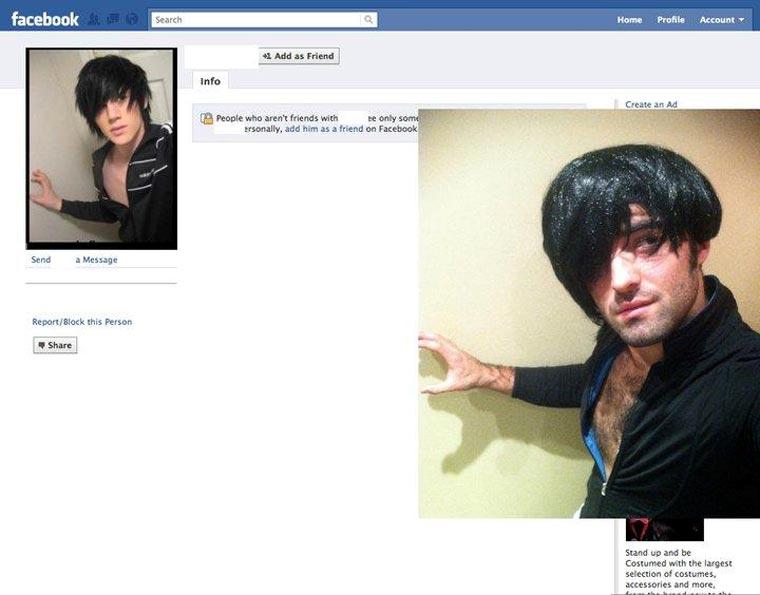 Typ stellt Facebook-Profilbilder Gleichnamiger nach und stellt ihnen Freundschaftsanfragen CasinoRoy_07