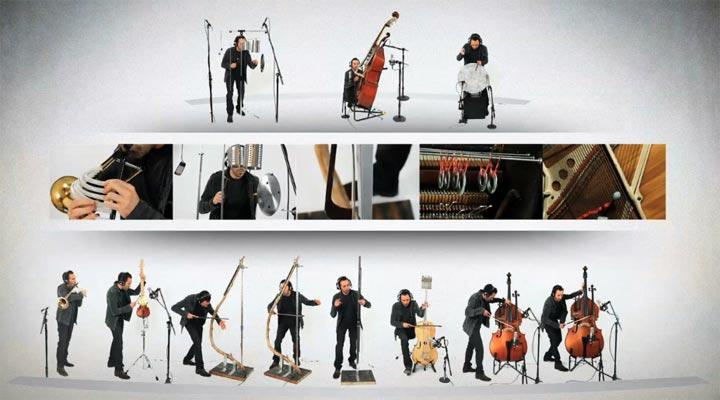 Ein ganzes Orchester aus alternativ konzepierten Instrumenten Custom_Built_Orchestra