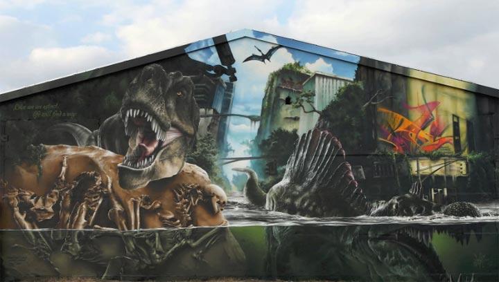 Graffiti: The Jurassic Park Wall von MadC MadC_JurassicPark