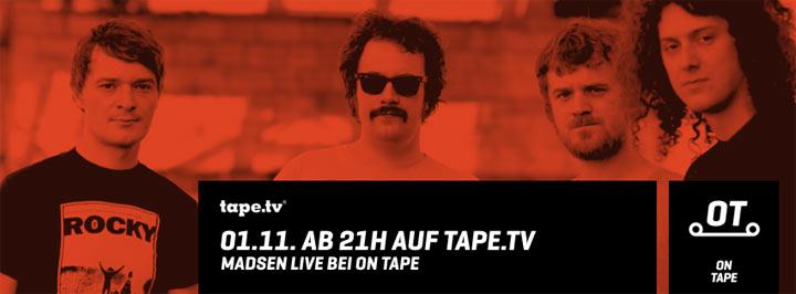 2x2 Tickets für Madsen in Berlin Madsen_on_tape_Verlosung