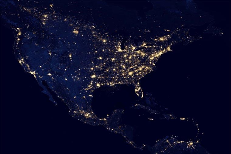 NASA: superdetaillierte Nachtbilder der Erde NASA_black_marble_02