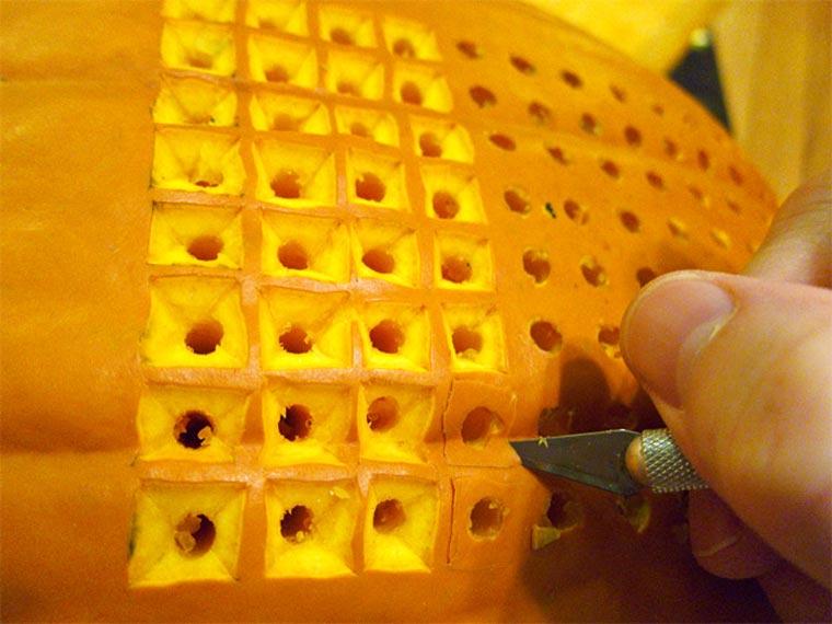 voll-funktionstüchtiges Tetris IN einem Kürbis Pumpktris_02