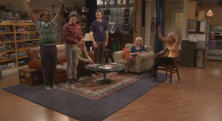 Big Bang Theory Flashmob-lysings Call Me Maybe