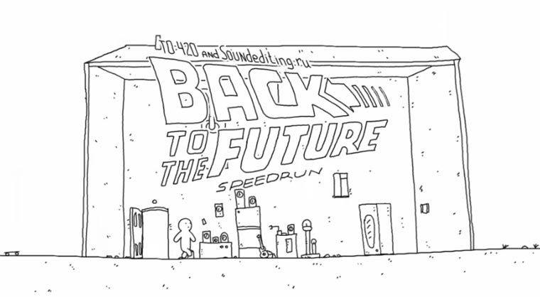 Back To The Future I in 60 Sekunden animiert back_to_the_future_speedrun