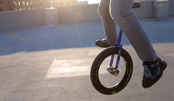 Freestyle auf dem Einrad einradtricks