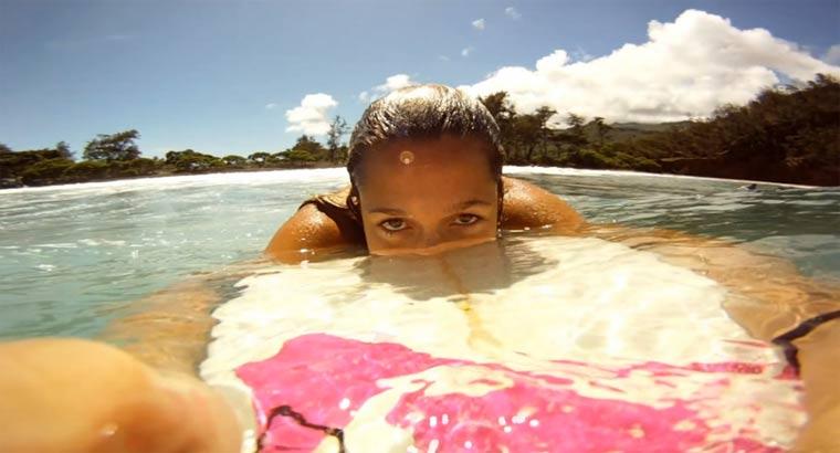 GoPro: Alana and Monyca go surfing