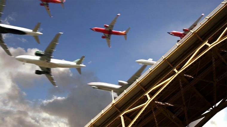 Landeanflugs-Collage san_diego_landings