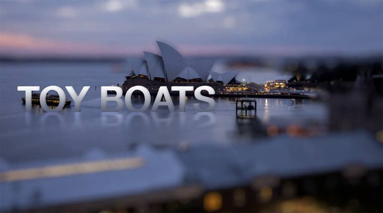 Toy Boats - Sydney Tilt-Shift-Timelapse
