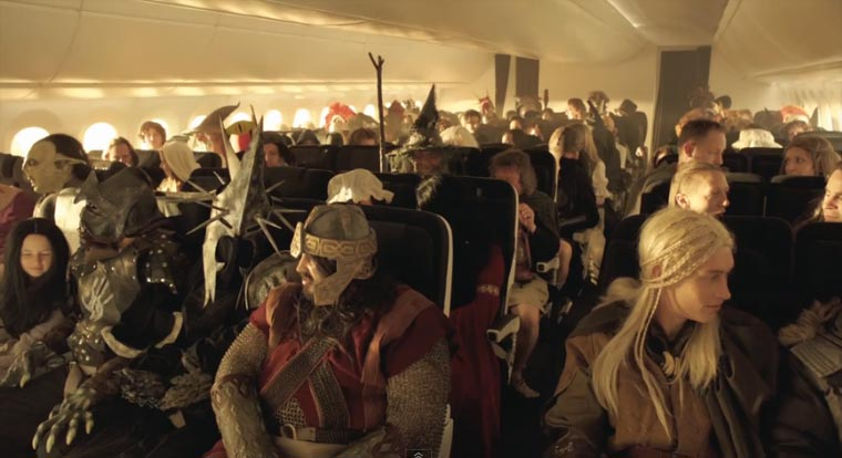 The Hobbit: Flug-Sicherheitshinweise bei Air New Zealand unexpected_Briefing