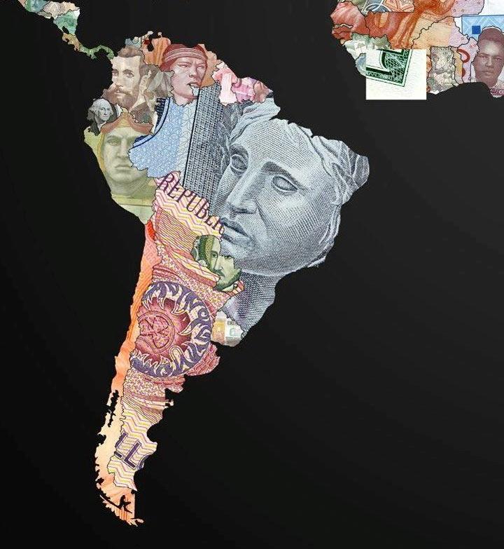 Weltkarten aus Währungen waehrungsweltkarte_07