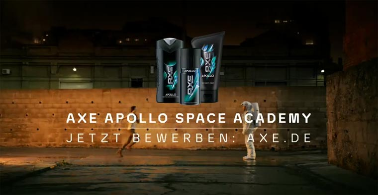 Werde zum Helden: AXE schickt dich in den Weltraum!