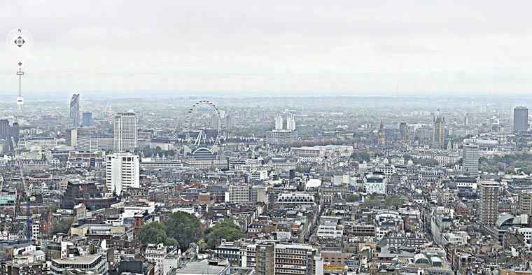 320 Gigapixel-Panoramabild von London BT_Tower_London_panorama_01