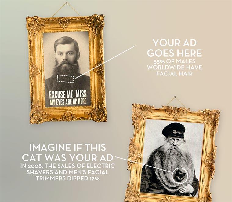 Werbung mit Bart - Beardvertising