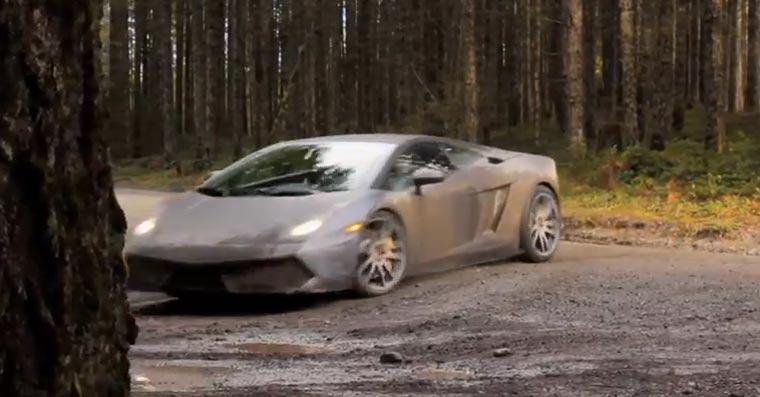 Ein Lamborghini als Rallye-Wagen