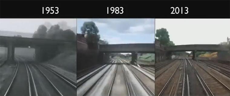 Zugfahrt-POV 1953, 1983 und 2013 im Vergleich London-Brighton_538313