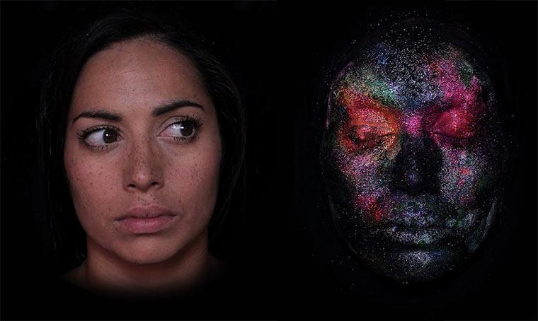 Makeup-Stopmotion erzählt von Reinkarnation