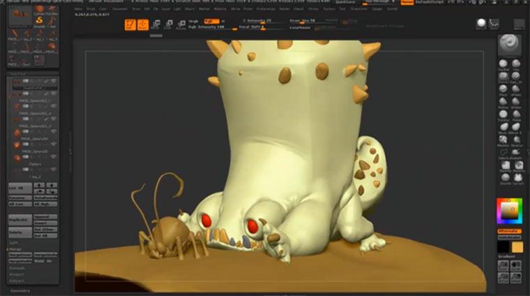 Speedsculptering: 3D-Kreatur am PC