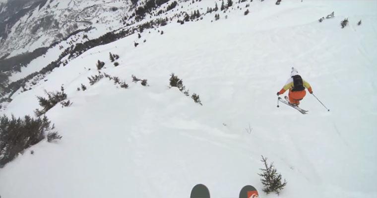 Mit Skiern durch den Pulverschneewald Thovex_Benkrich