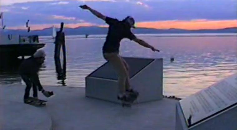 Skatevideo mit 25 Jahre alter Kamera VHS-skatevideo
