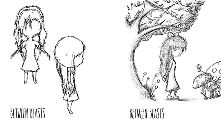 Short im Limbo-Style: Between Beasts between_beasts2