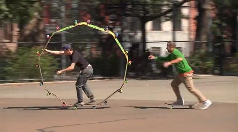 in Skateboardkreisen verkehren circleboardNYC