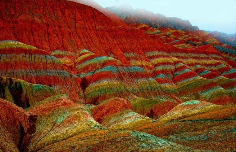 Die bunten Berge des Zhangye Danxia colorfulchinarocks_02