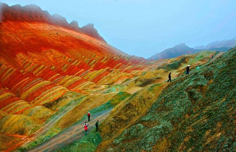 Die bunten Berge des Zhangye Danxia colorfulchinarocks_03