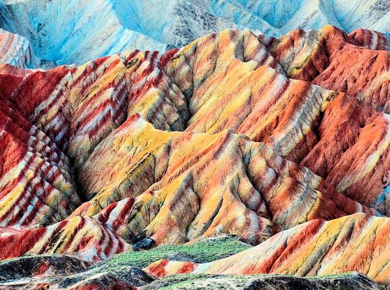 Die bunten Berge des Zhangye Danxia colorfulchinarocks_05