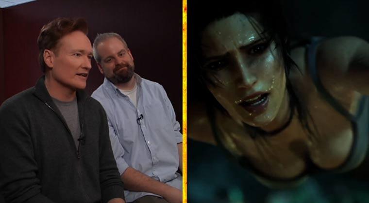 Herrlich: Conan O'Brien spielt Tomb Raider conan_raider