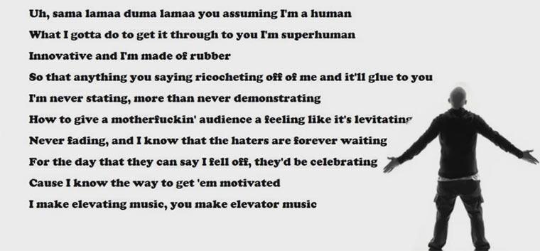 Eminem rappt schneller als sein Schatten eminemrapgod