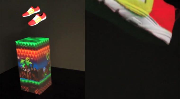 3D-Projektion auf auf Sneakern illuminimal
