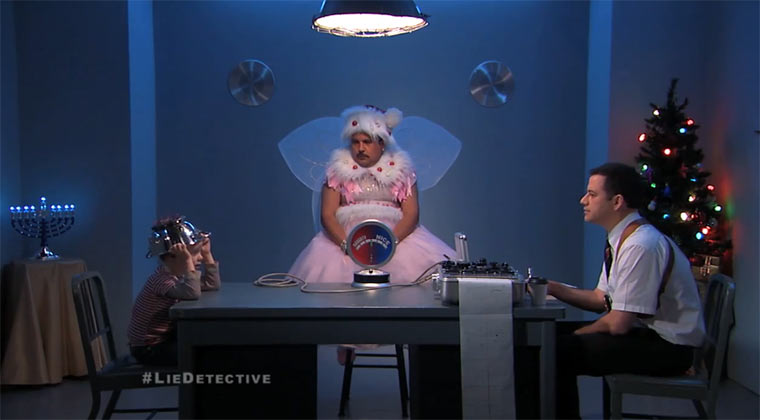 Jimmy Kimmel Lie Detective Xmas-Edition jimmyliedetectornaughty