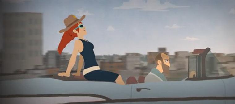 Illustration eines wechselnden Beifahrermonsters kalylivedub