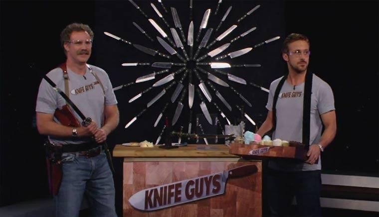 "Will Ferrell & Ryan Gosling sind die ""Knife Guys"" knife_guys"
