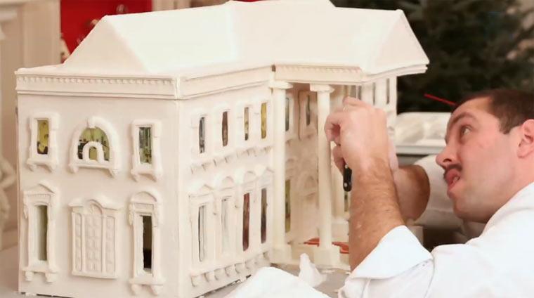 Das weiße Lebkuchenhaus lebkuchenweissehaus