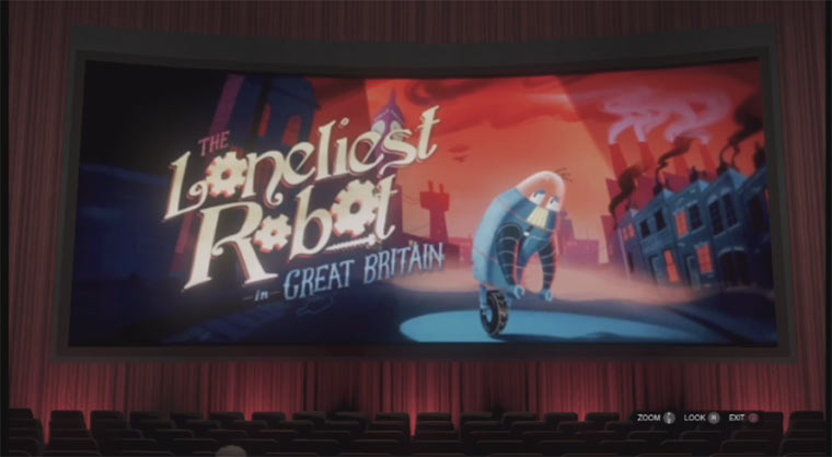 Animierter Kurzfilm aus Kino in GTA V loneliestrobotgb