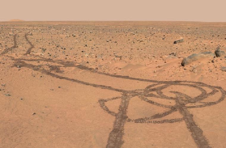 Curiosity malt Penis auf den Mars