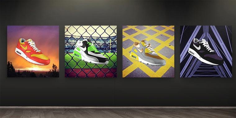 Mach aus deinen Instagram-Fotos Nike Air Max nikephotoid