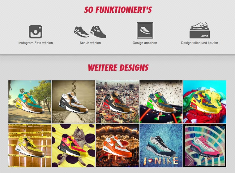 Mach aus deinen Instagram-Fotos Nike Air Max nikephotoid2