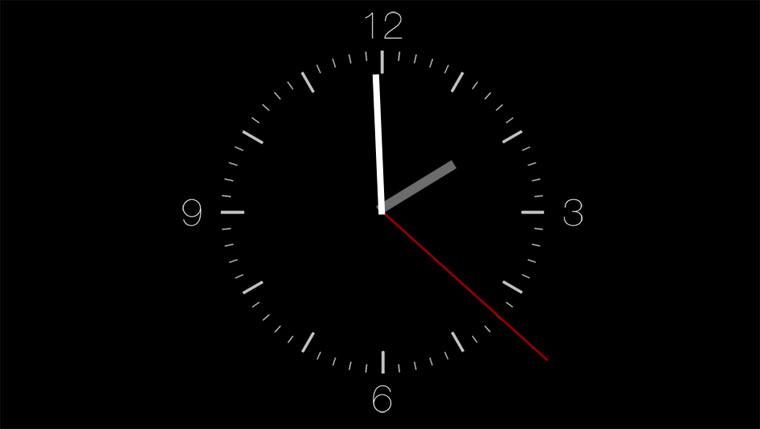 Die Uhr, die euch beim Pünktlichsein hilft on-time-clock