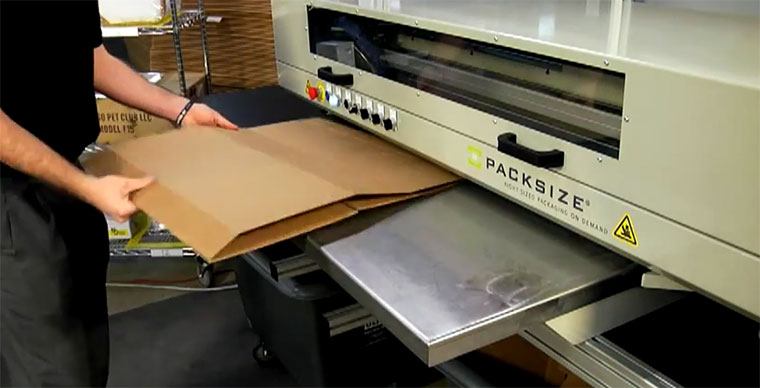 Packsize, die intelligente Paket-Maschine packsize