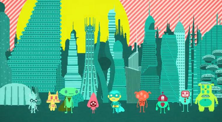 Animierte Aliens von Planeten 8 und 9 planet9