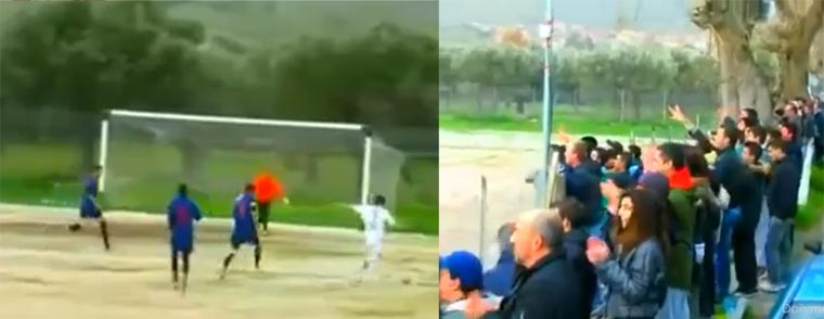 Quadruple-Fail beim Torschuss quadruple-soccer-fail