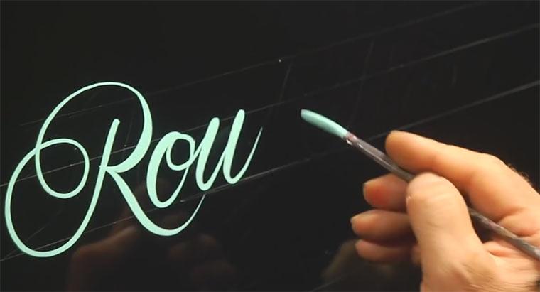 Glen Weisgerber kann besser mit der Hand schreiben als du drucken roundletterhandwriting