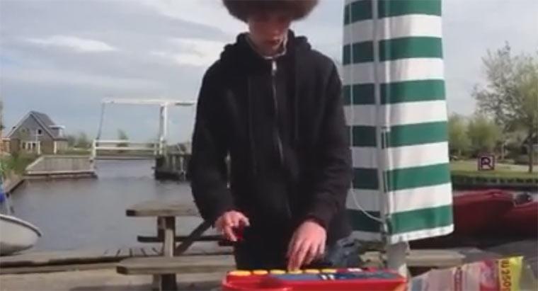 Dubstep auf dem Bauernhoftier-Soundboard