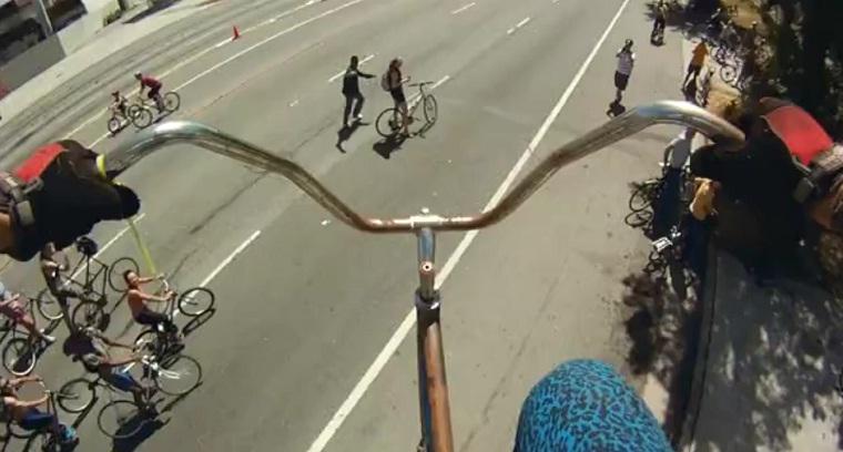 Das viereinhalb Meter hohe Fahrrad stoopidtall