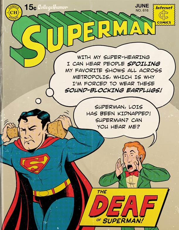 Supermans Probleme des digitalen Zeitalters