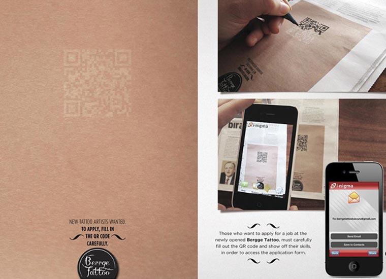 Tätowiererbewerbung durch akkurates Nachzeichnen eines QR-Codes tattoo_QR-code_02