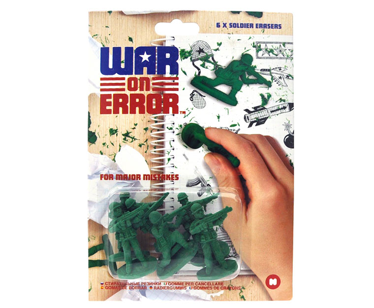 War on Error: Radiergummisoldaten